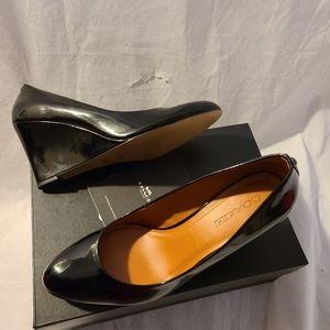 Coach Black Patent Leather wedge Pumps Size 11